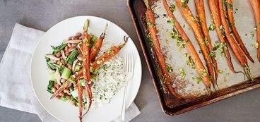 368 173 64bb 864a vegan roasted carrots with azuki beans and cilantro rice hero