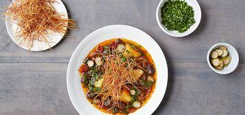 358 168 d771 6c7f vegan catalan vegetable stew with crisp fideos hero