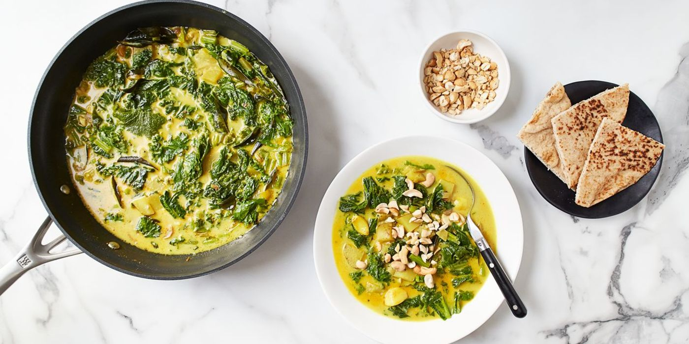 Garlicky Greens Curry