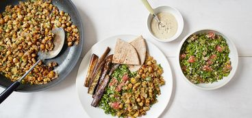 368 173 8ceb e553 vegan falafel hash with grapefruit arugula tabbouleh hero