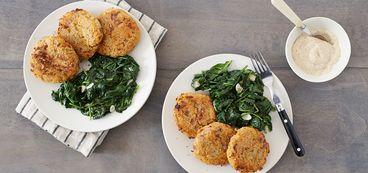 368 173 2ffa e9e4 vegan crisp rutabaga rosti with garlicky balsamic spinach hero