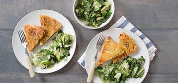 358 168 8b60 b105 vegan spanish potato pepper olive tortilla with garlicky escarole hero1