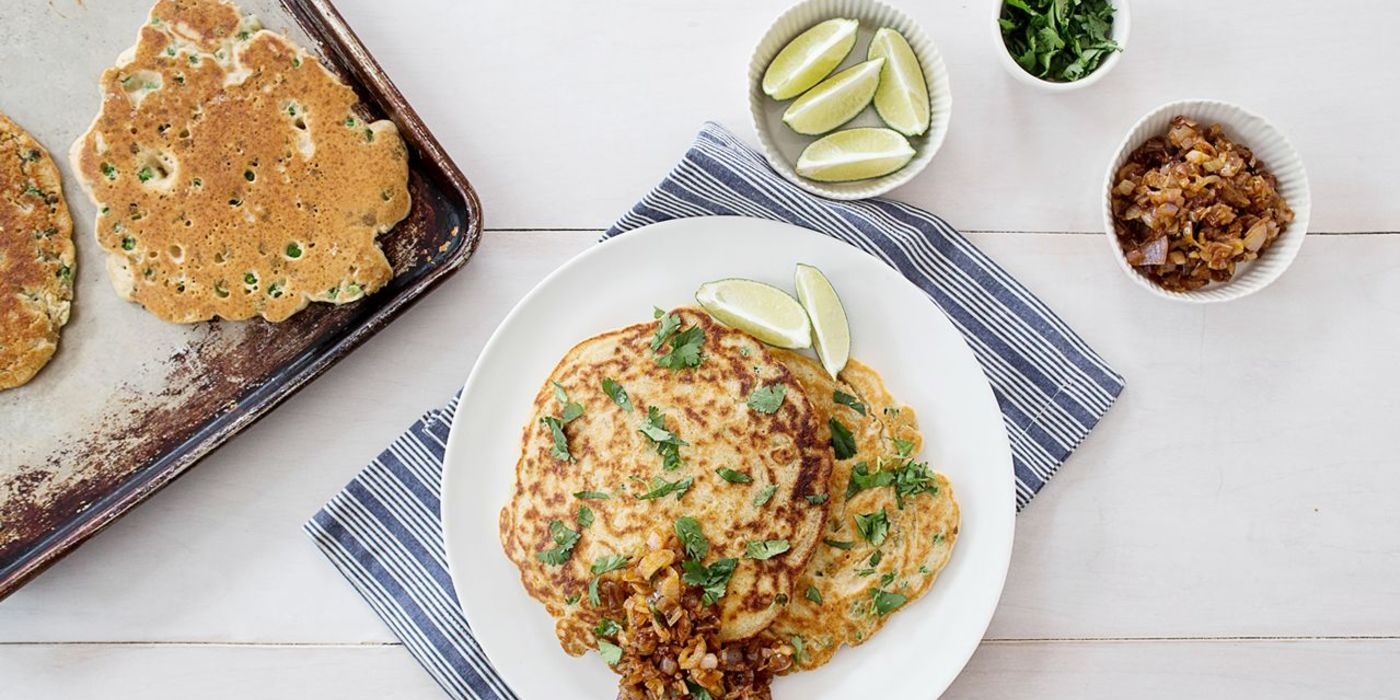 South Indian Coconut Pancakes with Homemade Chutney