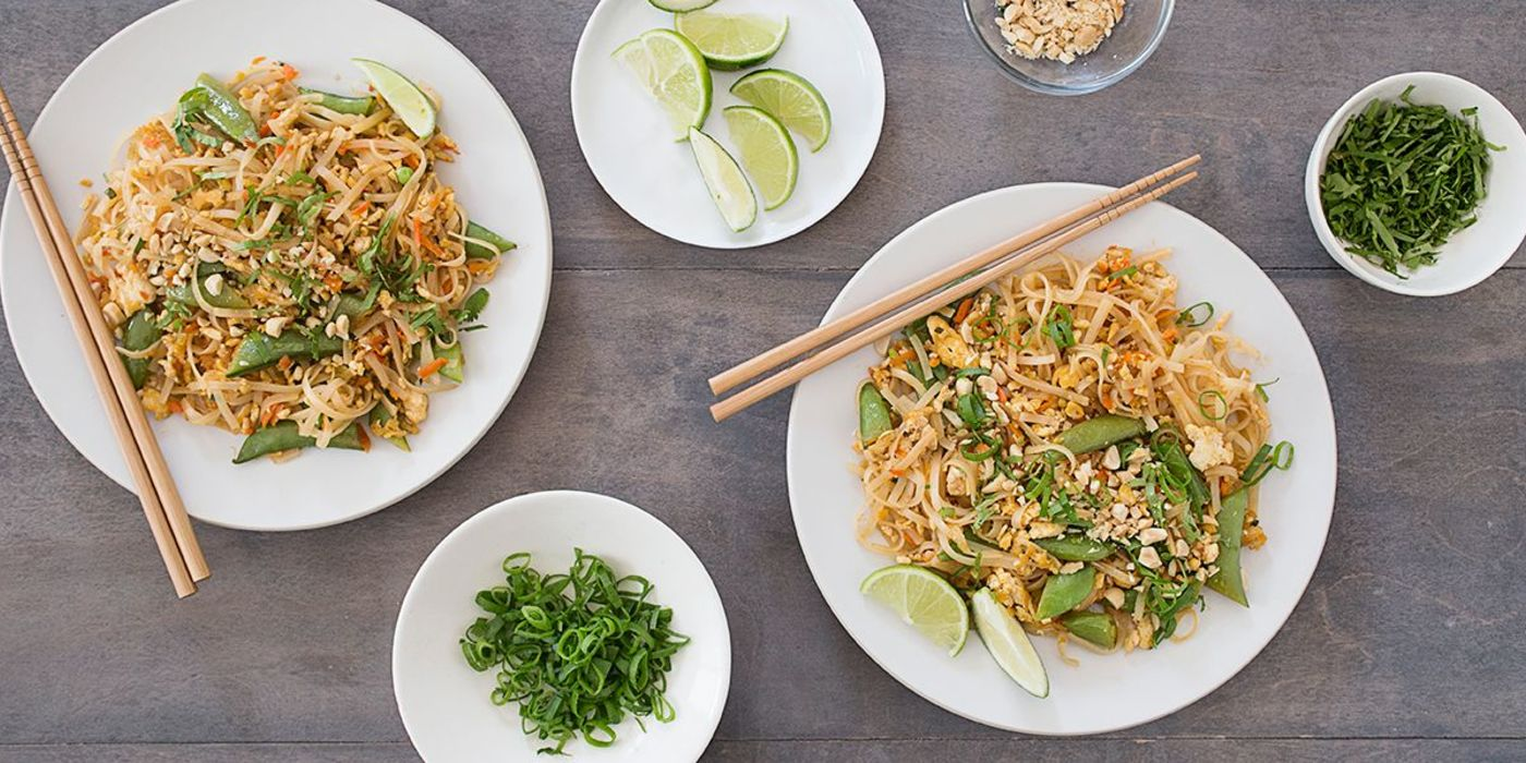 Chile Lime Noodles with Crumbled Tofu and Spring Vegetables