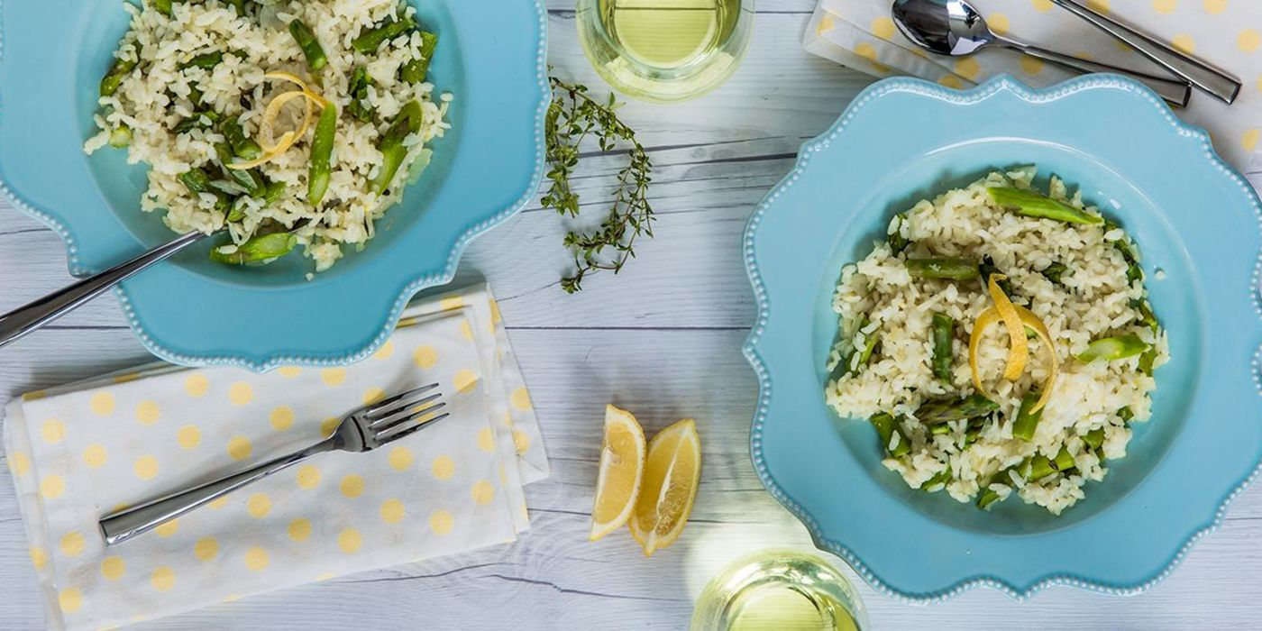 Lemon Asparagus Risotto with Fresh Thyme