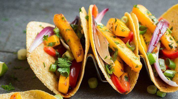 Butternut Squash Tacos with Sweet Sriracha Glaze