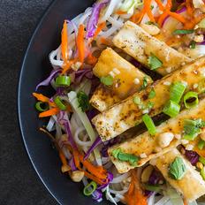Vietnamese Caramelized Tofu with Crispy Asian Slaw