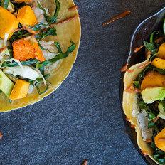 Pumpkin Harvest Taco with Spiced Date Kale Slaw