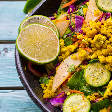 Thai Tofu Salad with Asian Pear and Ginger-Lime Dressing