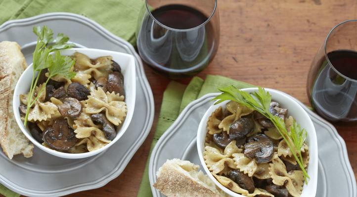 Bowtie Pasta with Mushrooms