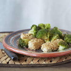Sesame-Encrusted Tofu with Spicy Broccoli