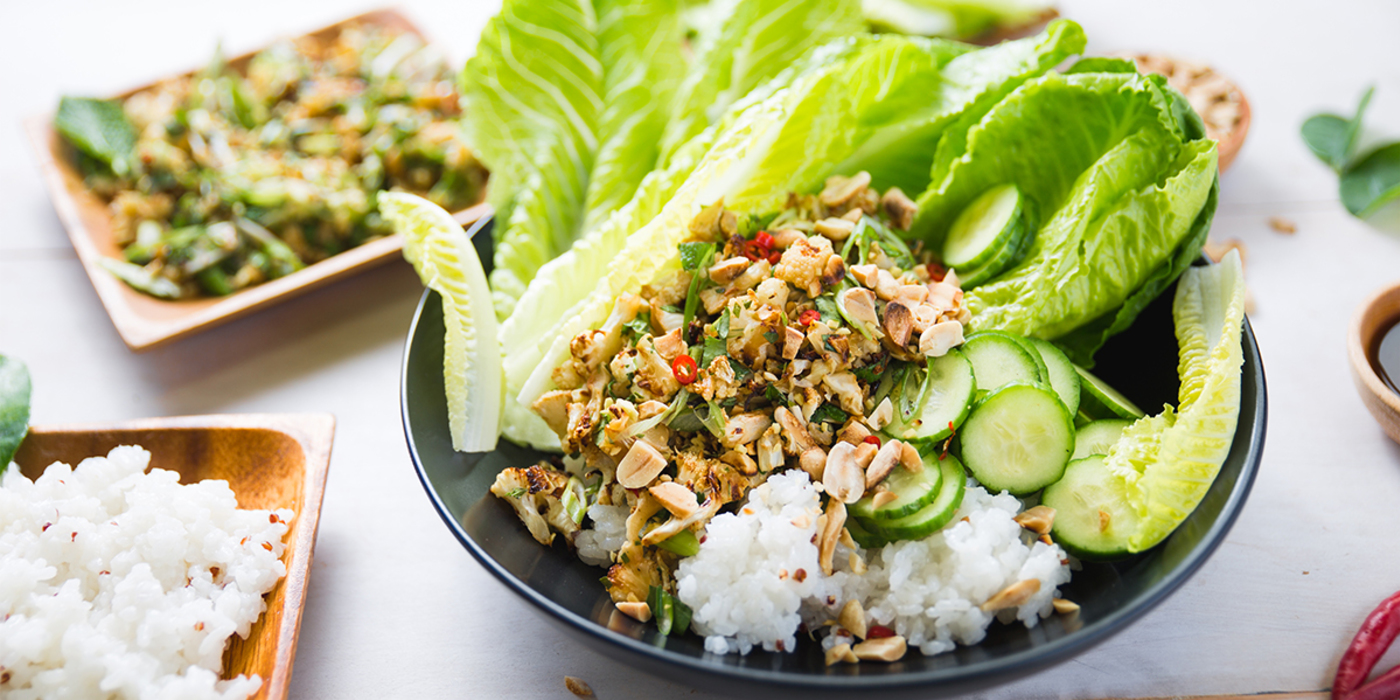 Thai-Style Cauliflower with Kaffir Lime & Sticky Rice