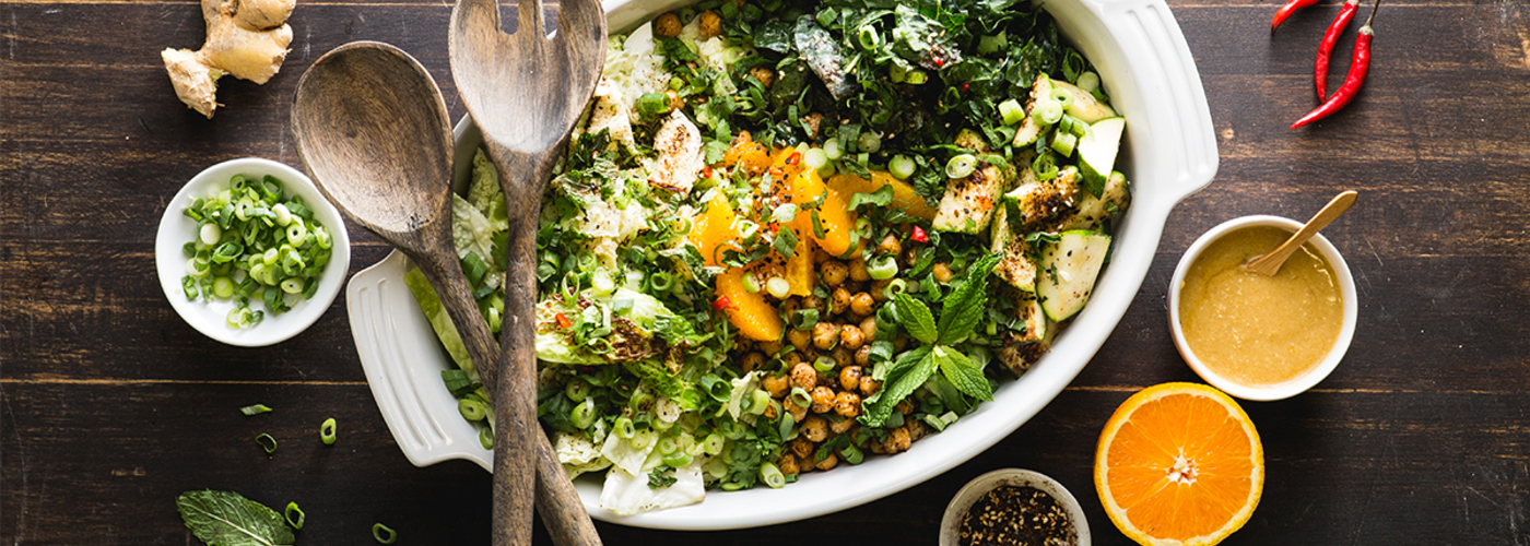 Wicked Healthy Chopped Salad with Charred Vegetables & Ginger-Miso Dressing