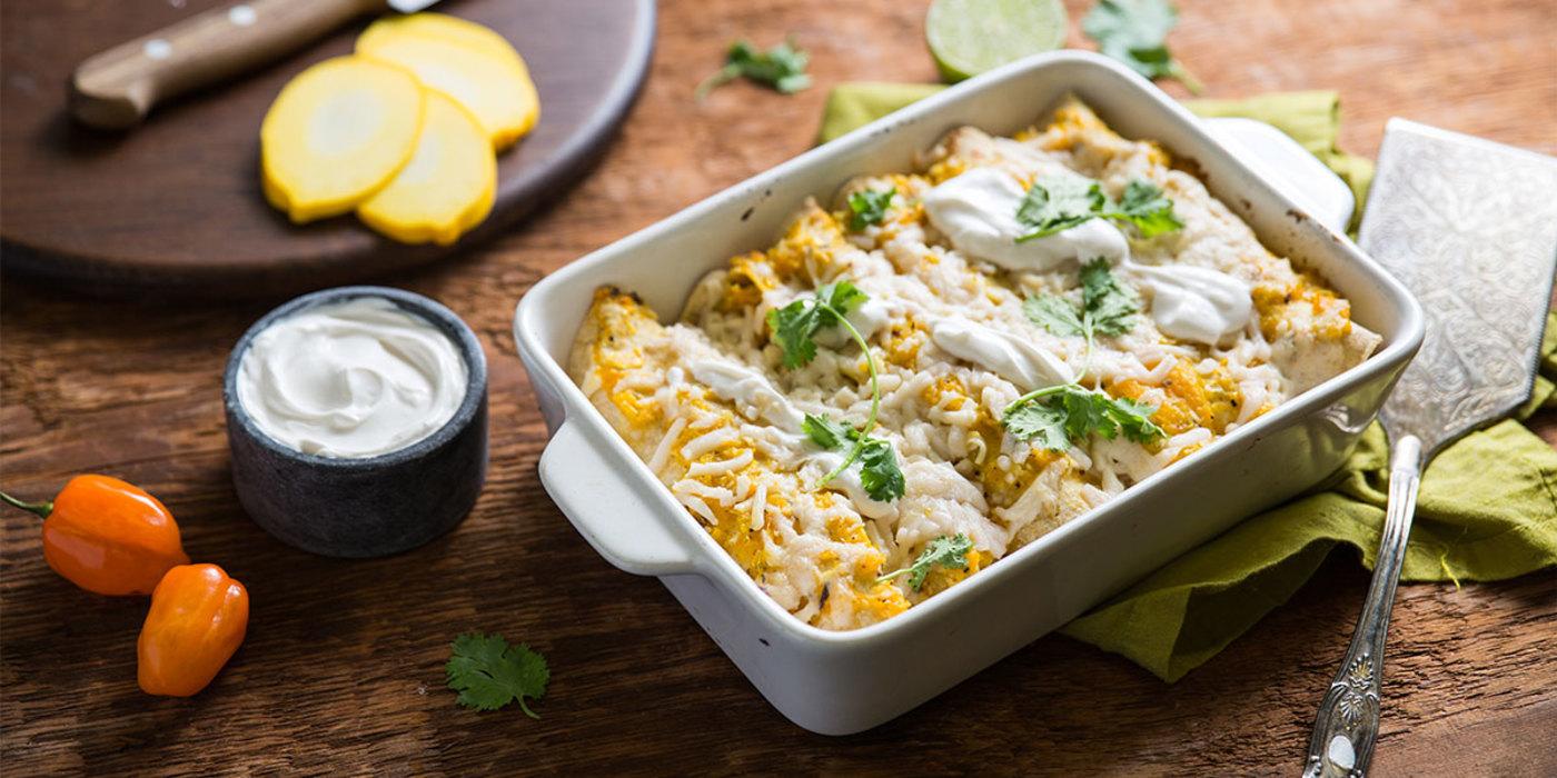 Summer Squash Enchiladas with Yucatán Salsa