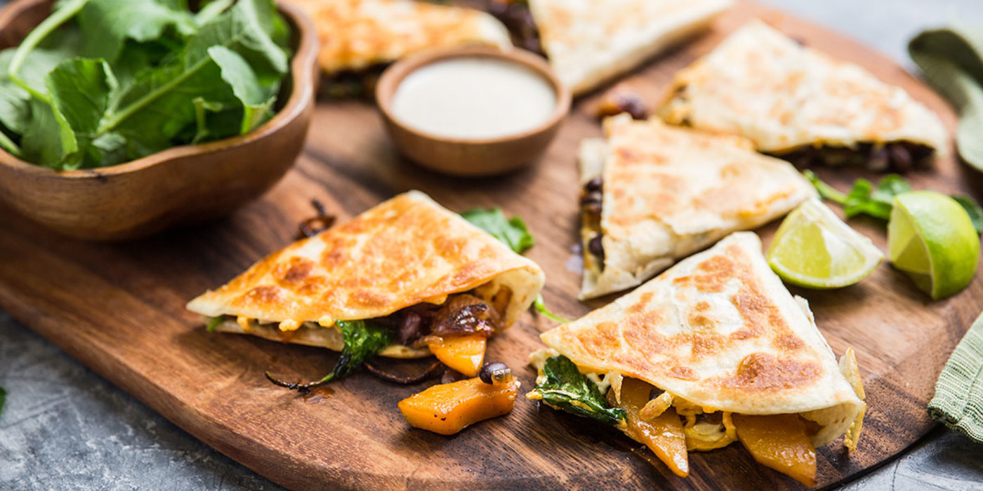 Butternut and black bean quesadilla with cumin sour cream forumfinder Gallery