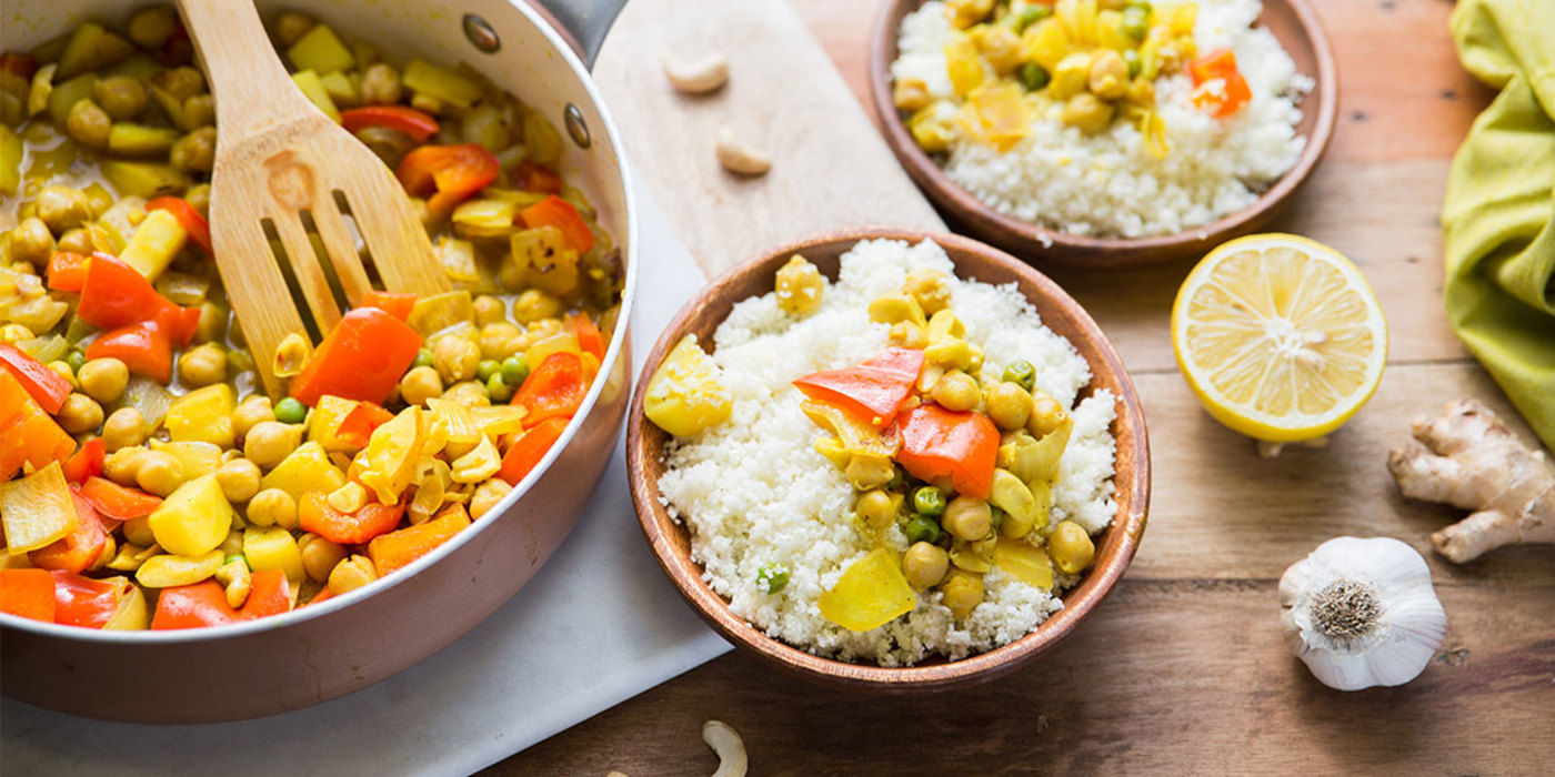 Cashew Korma with Cauliflower Rice