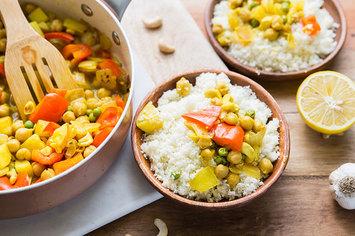 Cashew Korma with Cauliflower Rice