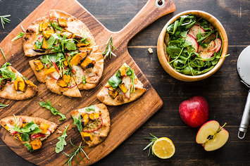 Winter Squash Flatbread with Caramelized Apples and Rosemary