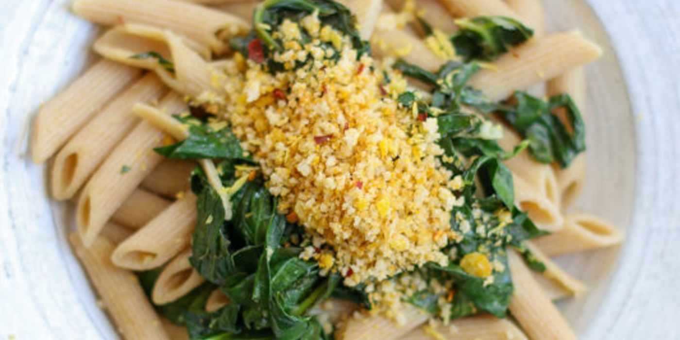 Penne Pasta with Collard Greens