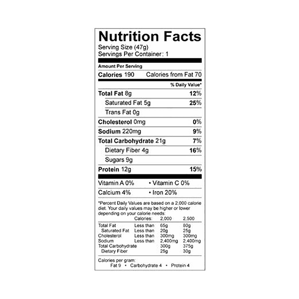 Snickerdoodle nutrition