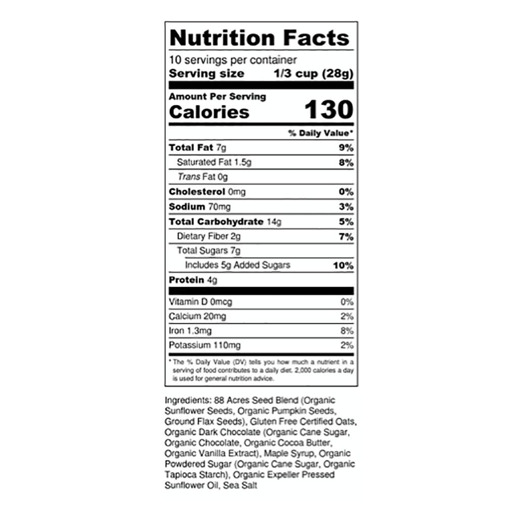 Seed'nola nutrition